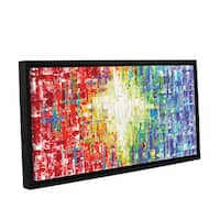 ArtWall Susanna Shaposhnikova's Abs white Multicolor, Gallery Wrapped Floater-framed Canvas - Multi