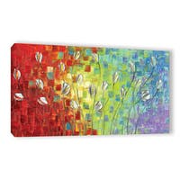 ArtWall Susanna Shaposhnikova's Multi Silver tulip, Gallery Wrapped Canvas