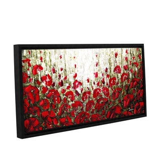 ArtWall Susanna Shaposhnikova's Olive Red Poppies, Gallery Wrapped Floater-framed Canvas