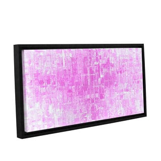 ArtWall Susanna Shaposhnikova's Pink White, Gallery Wrapped Floater-framed Canvas