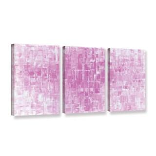 ArtWall Susanna Shaposhnikova's Pink White, 3 Piece Gallery Wrapped Canvas Set