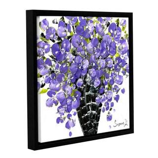 ArtWall Susanna Shaposhnikova's Purple Bouquet 2, Gallery Wrapped Floater-framed Canvas