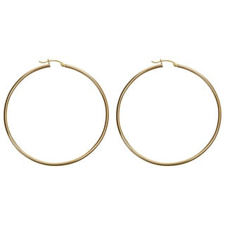 Decadence 14k Yellow Gold Polished Hoop Earrings