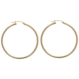 Decadence 14k Yellow Gold 50 mm Polished Hoop Earrings