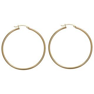 Decadence 14k Yellow Gold 50 mm Polished Hoop Earrings