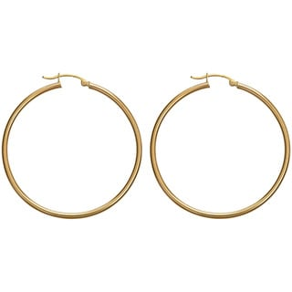 Decadence 14k Yellow Gold 40 mm Polished Hoop Earrings