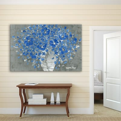 ArtWall Susanna Shaposhnikova's Blue Bouquet, Gallery Wrapped Canvas