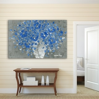 ArtWall Susanna Shaposhnikova's Blue Bouquet, Gallery Wrapped Canvas