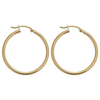 Decadence 14k Gold 30 mm Polished Hoop Earrings