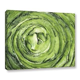 ArtWall Susanna Shaposhnikova's Green Swirl, Gallery Wrapped Canvas