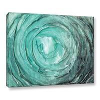 ArtWall Susanna Shaposhnikova's Greenish Blue Swirl, Gallery Wrapped Canvas