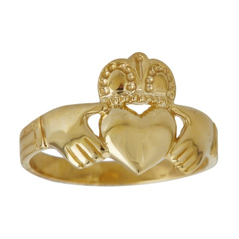 Decadence 14k Yellow Gold Claddagh Ring