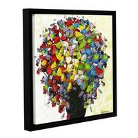 ArtWall Susanna Shaposhnikova's Multicolor Bouquet, Gallery Wrapped Floater-framed Canvas