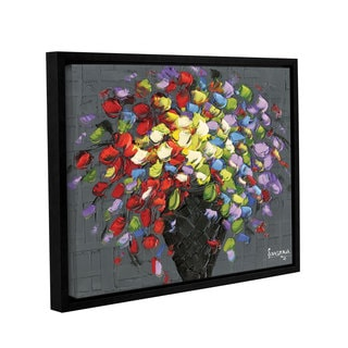 ArtWall Susanna Shaposhnikova's Multicolor Bouquet 2, Gallery Wrapped Floater-framed Canvas