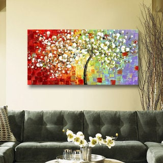 ArtWall Susanna Shaposhnikova's Multi Tree, 3 Piece Gallery Wrapped Canvas Set