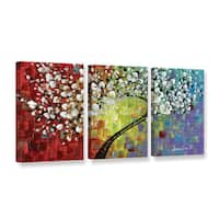 ArtWall Susanna Shaposhnikova's Multi Tree 2, 3 Piece Gallery Wrapped Canvas Set