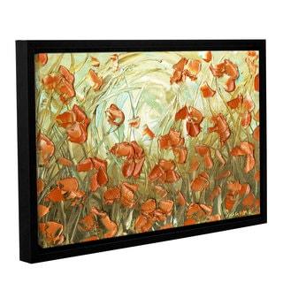 ArtWall Susanna Shaposhnikova's Orange Poppies, Gallery Wrapped Floater-framed Canvas