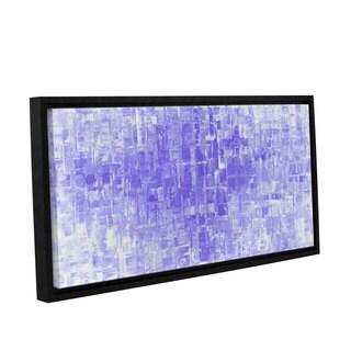ArtWall Susanna Shaposhnikova's Purple White, Gallery Wrapped Floater-framed Canvas