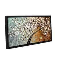 ArtWall Susanna Shaposhnikova's Warmer, Gallery Wrapped Floater-framed Canvas