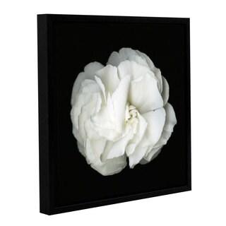 ArtWall Susanna Shaposhnikova's White Flower, Gallery Wrapped Floater-framed Canvas