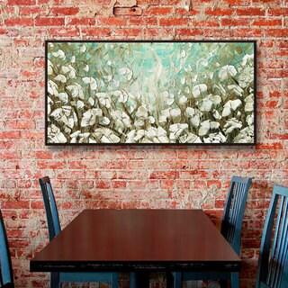 ArtWall Susanna Shaposhnikova's White Poppies, Gallery Wrapped Floater-framed Canvas