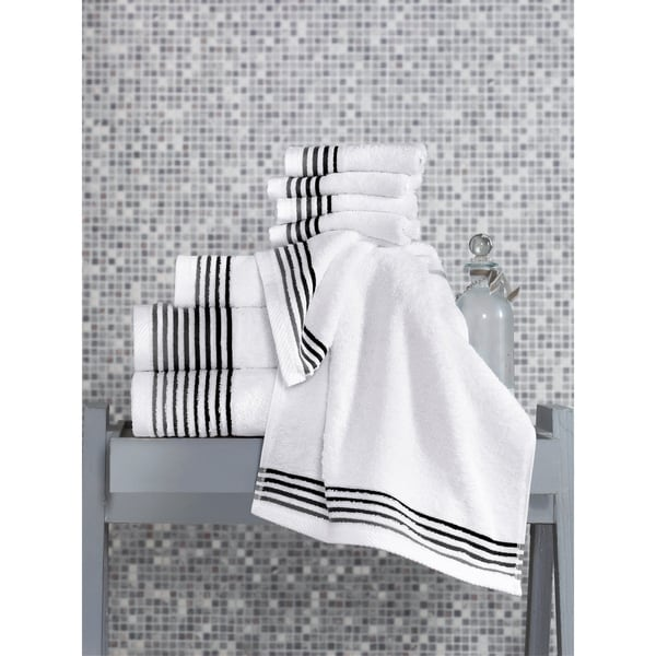 Classic Turkish Towel 8 Piece Luxury Cotton-Bamboo Towel Set