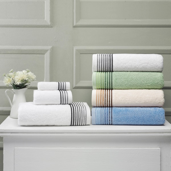 Salbakos Classic 8-piece Turkish Terry Towel Set With Insert Weave Dobby