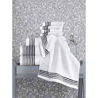 Classic 8-piece Turkish Terry Towel Set With Insert Weave Dobby