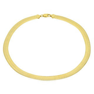 Sterling Essentials 14K Gold over Silver 7 mm Italian Magic Chain (16-20 inches) - Yellow