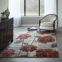 "Momeni Millennia Red Hand-Tufted Viscose Rug - 3'6"" x 5'6"""