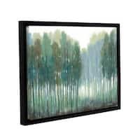 ArtWall Norman Wyatt JR's Somber Coastline, Gallery Wrapped Floater-framed Canvas