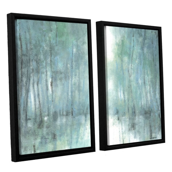 ArtWall Norman Wyatt JR's Crisp Breeze, 2 Piece Floater Framed Canvas Set - Blue