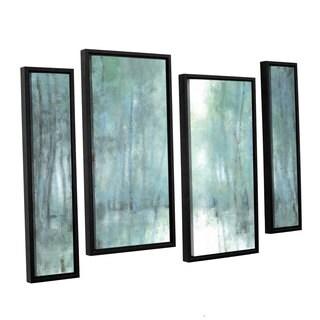 ArtWall Norman Wyatt JR's Crisp Breeze, 4 Piece Floater Framed Canvas Staggered Set