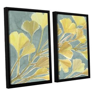 ArtWall Norman Wyatt JR's Gorgeous Ginko, 2 Piece Floater Framed Canvas Set