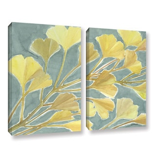 ArtWall Norman Wyatt JR's Gorgeous Ginko, 2 Piece Gallery Wrapped Canvas Set