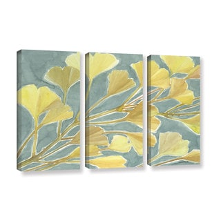 ArtWall Norman Wyatt JR's Gorgeous Ginko, 3 Piece Gallery Wrapped Canvas Set
