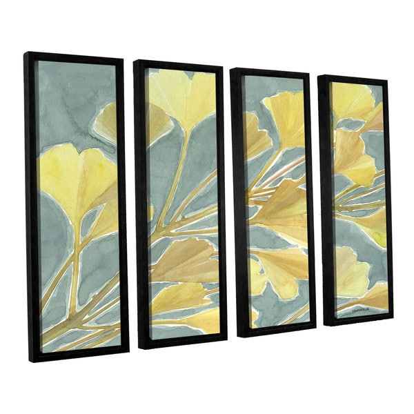 ArtWall Norman Wyatt JR's Gorgeous Ginko, 4 Piece Floater Framed Canvas Set