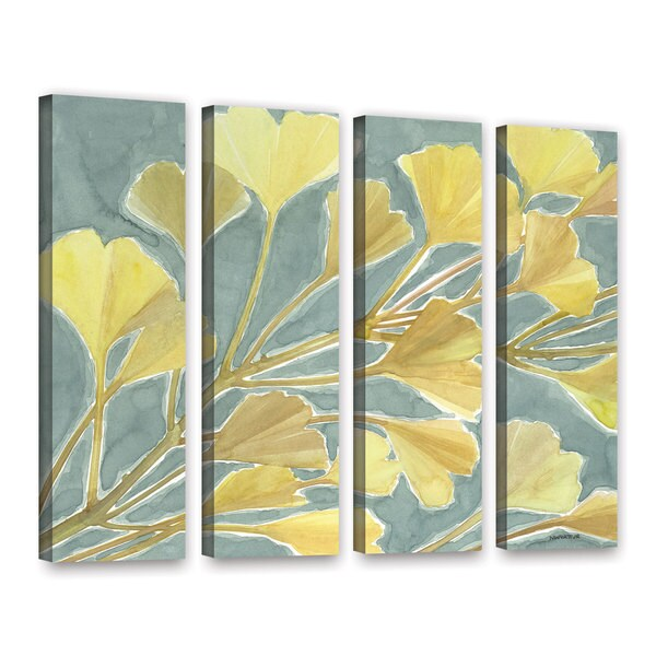 ArtWall Norman Wyatt JR's Gorgeous Ginko, 4 Piece Gallery Wrapped Canvas Set