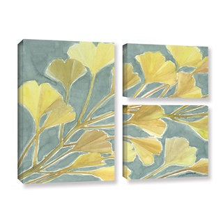 ArtWall Norman Wyatt JR's Gorgeous Ginko, 3 Piece Gallery Wrapped Canvas Flag Set