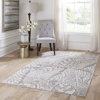 Alanya Beige Abstract Area Rug (7'6 x 9'6)