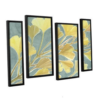 ArtWall Norman Wyatt JR's Gorgeous Ginko, 4 Piece Floater Framed Canvas Staggered Set
