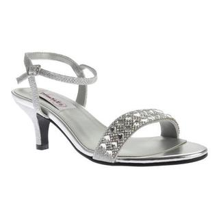 Women's Dyeables Sage Ankle Strap Sandal Silver Shimmer (More options available)