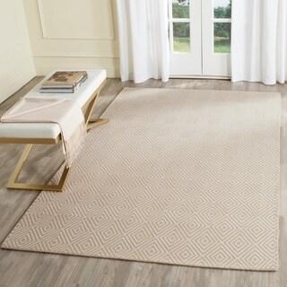 Safavieh Hand-Hooked Wilton Beige/ Ivory Wool Rug (4' x 6')
