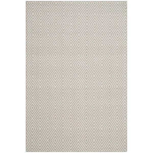 Safavieh Hand-Hooked Wilton Light Grey/ Ivory Wool Rug (4' x 6')