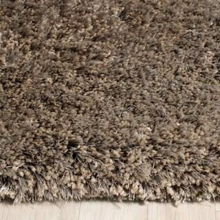 Safavieh Handmade Toronto Shag Taupe Polyester Rug (3' x 5')