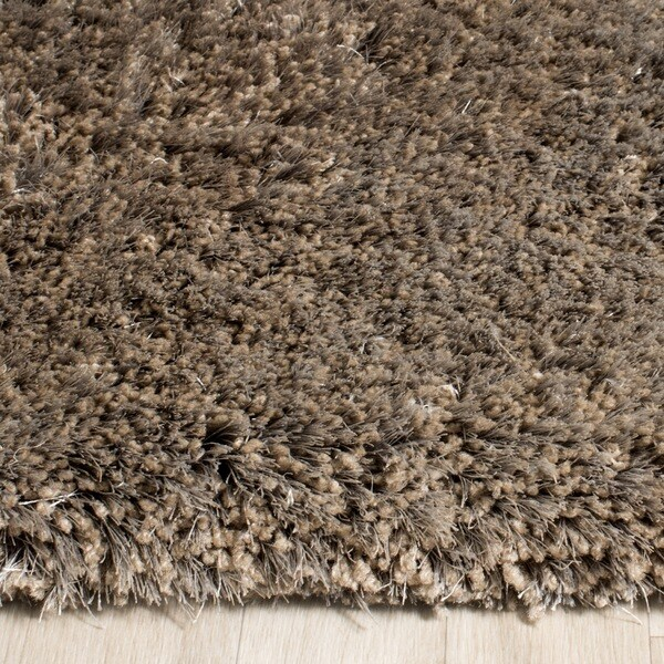 Shop Safavieh Handmade Toronto Shag Taupe Polyester Rug