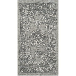 Safavieh Palazzo Light Grey/ Anthracite Medallion Area Rug - 2'6 x 5'