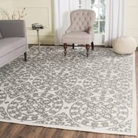 Safavieh Handmade Cedar Brook Natural/ Grey Jute Rug - 5' x 7'