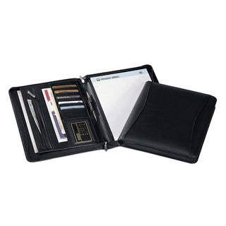 Black Zip-around Padfolio