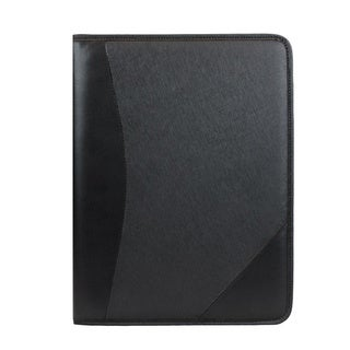 Black Padfolio with Card Pockets and Pen Slot
